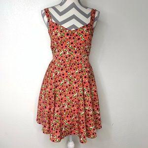 Forever 21 A line Smocked Floral Dress